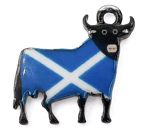 Scottish Charm, Blue and White Saltire Scottish Cow